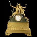 Reloj sobremesa francés bronce dorado. Carlos X
